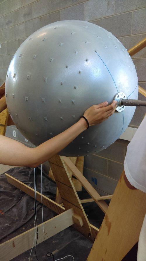 Inflated yoga ball