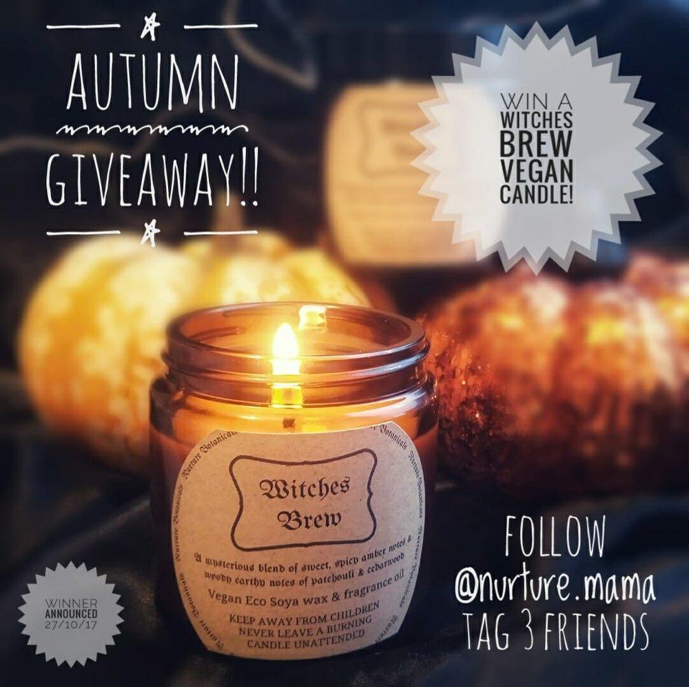 Win a SpookyHalloween Candle! - 100% Vegan, Eco Soya