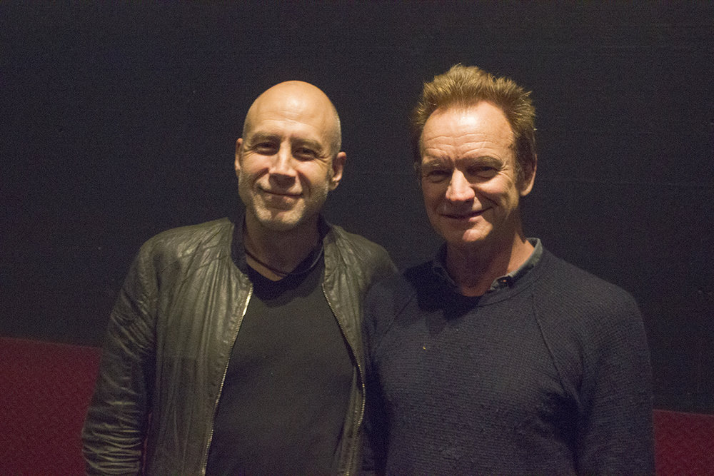 Steve with the legendary Sting (March 2017)