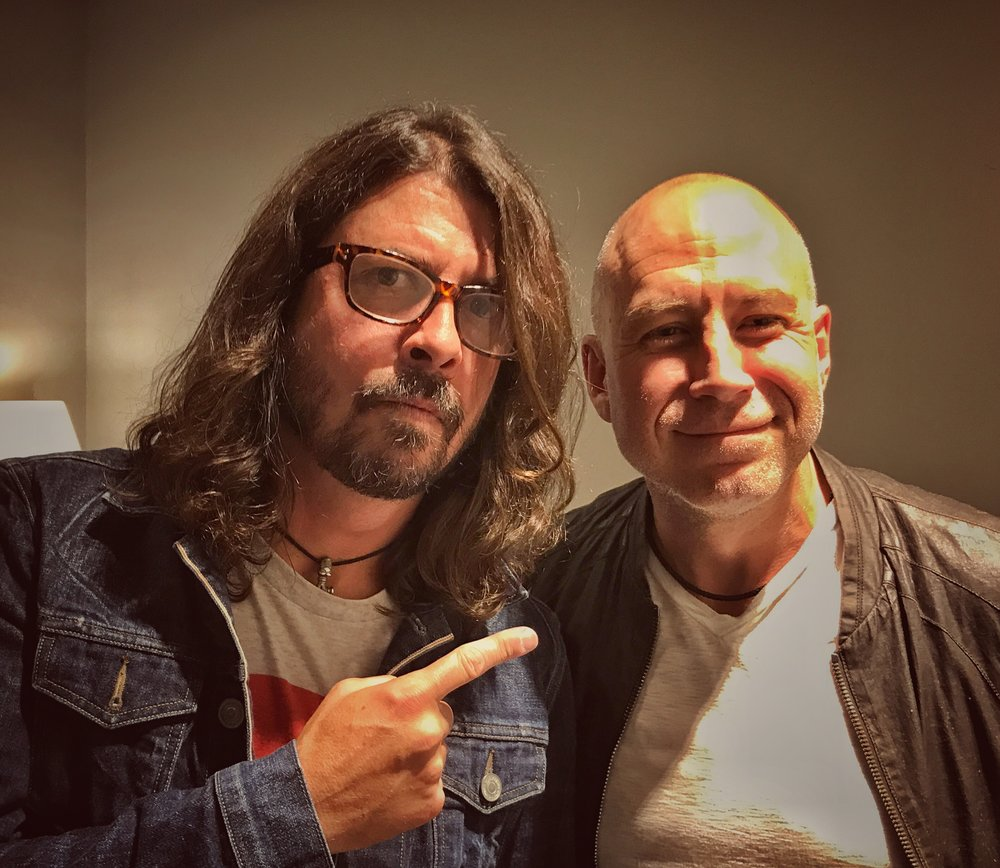 Steve with Dave Grohl of Foo Fighters (Summer 2017)