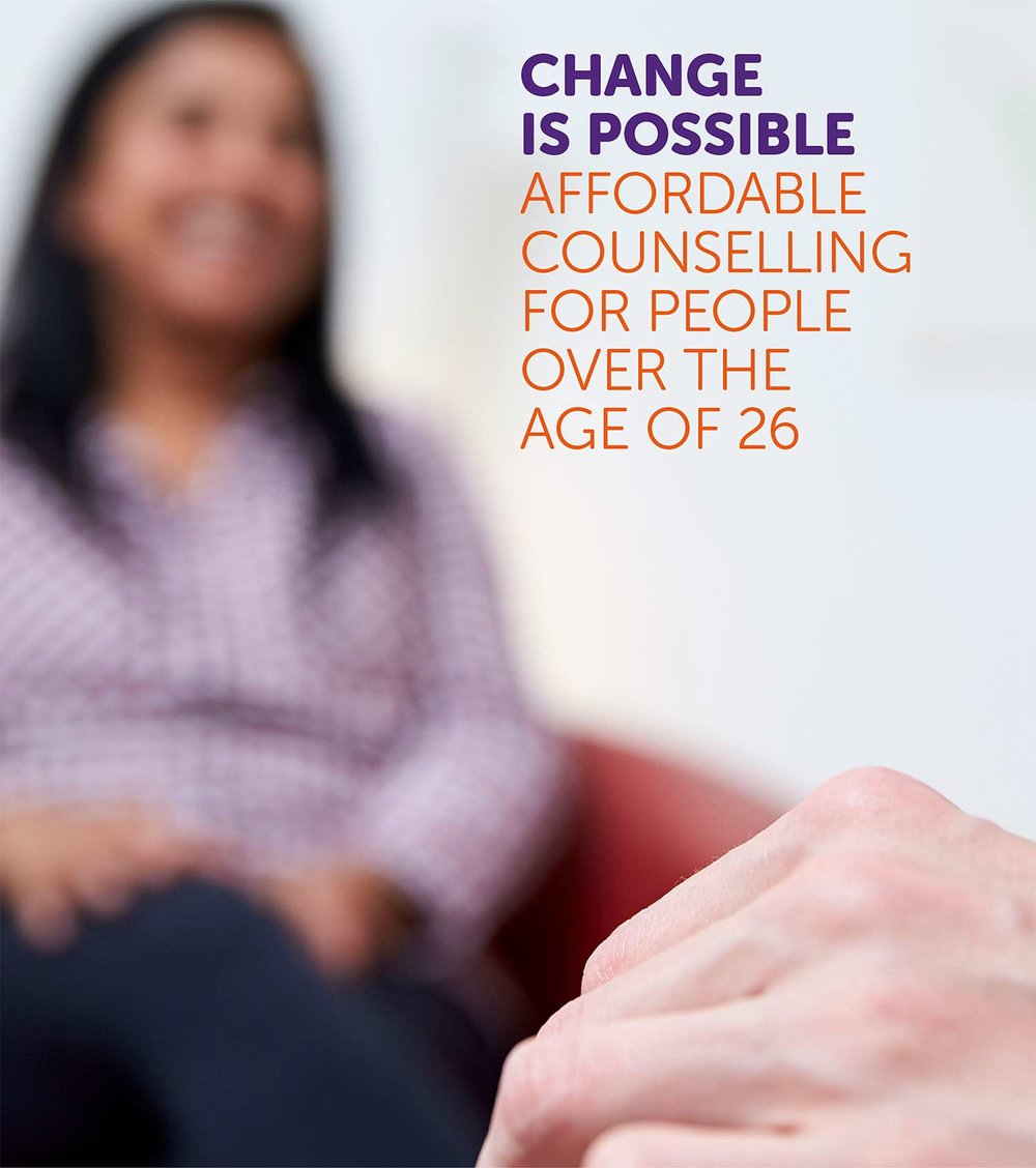 Download our leaflet on affordable counselling for people aged over 26.