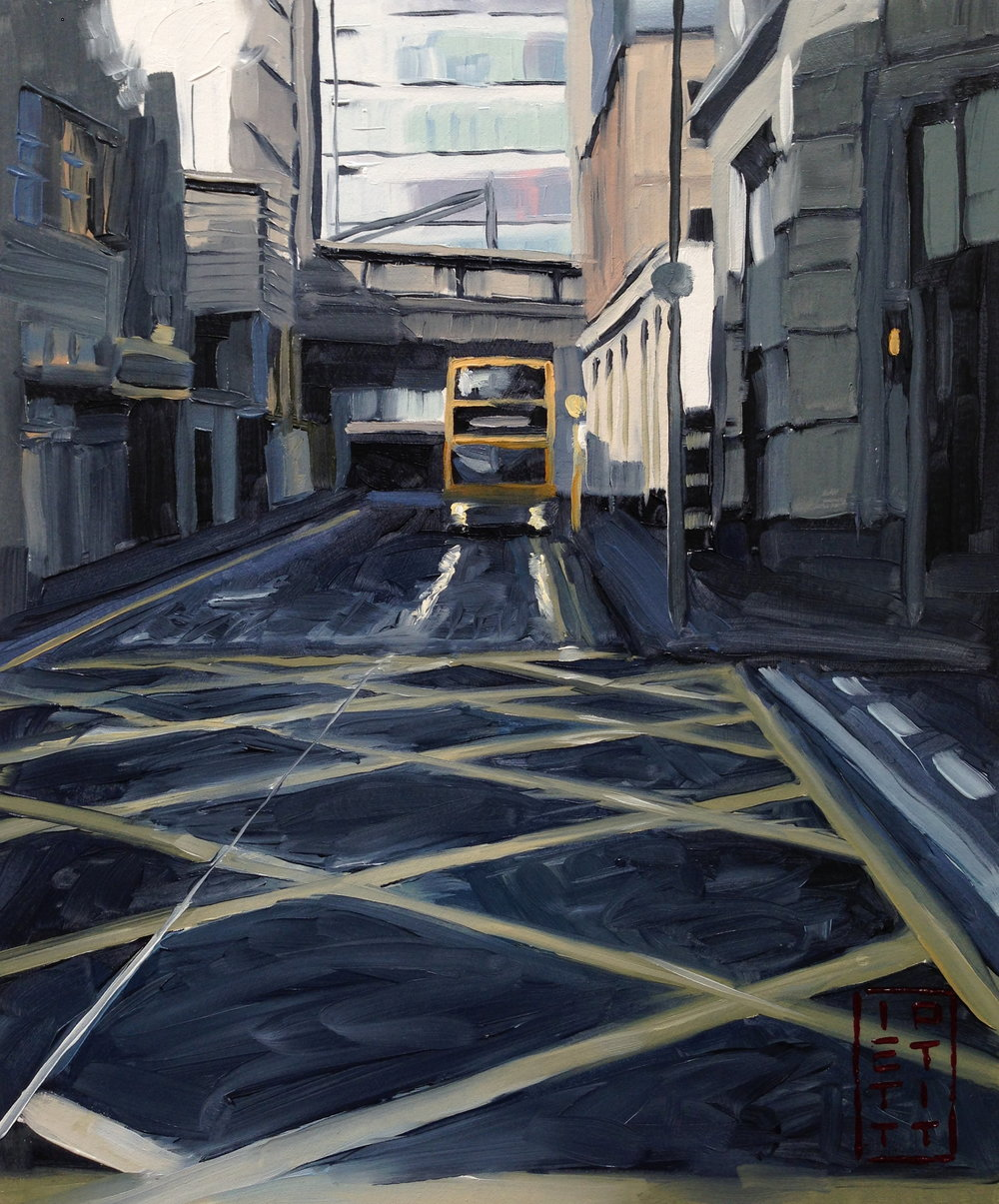 The Bus Home (Oil 10 X 12 inch)