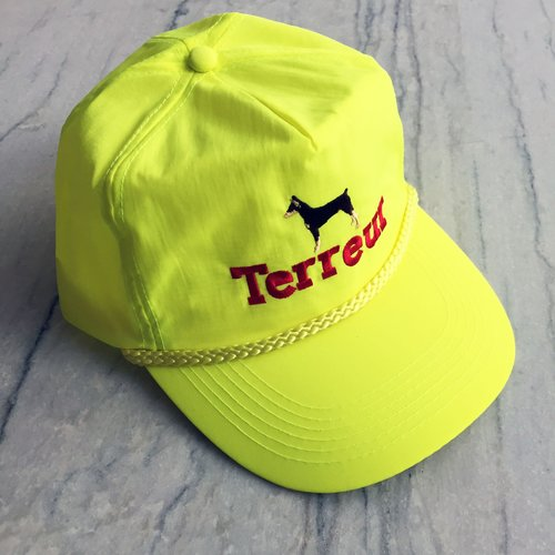 Yellow Crinkle Nylon Baseball Cap — Terreur NYC 959b1e31eba