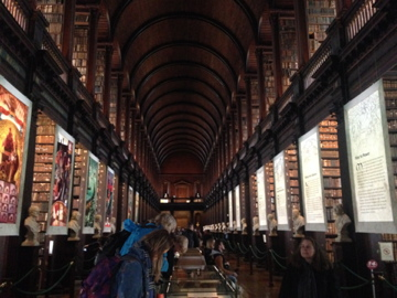 Trinity Library in Ireland... It took my breath away to imagine all the stories, lives, and ideas contained in this room.