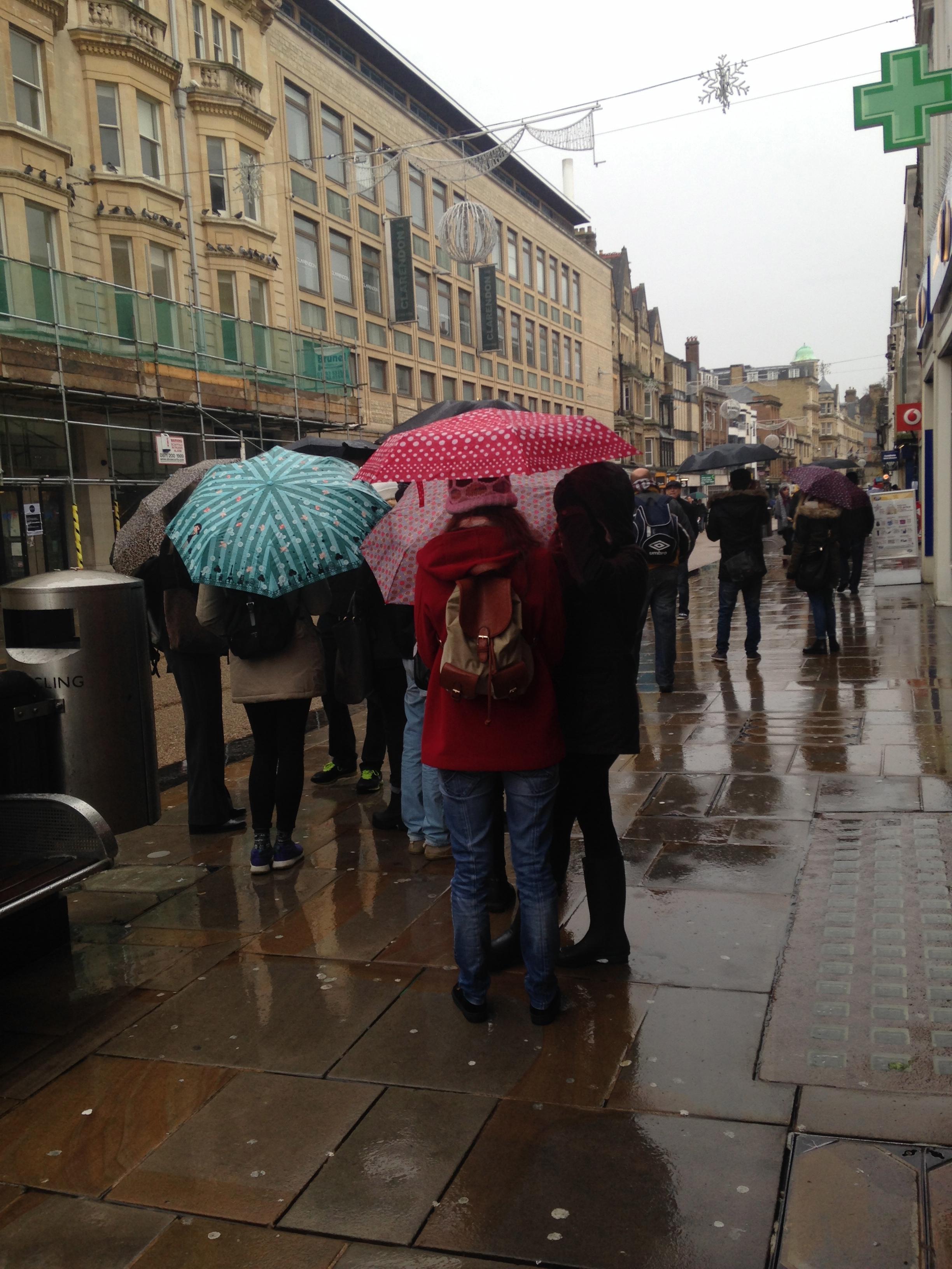 Hurrah for umbrellas!