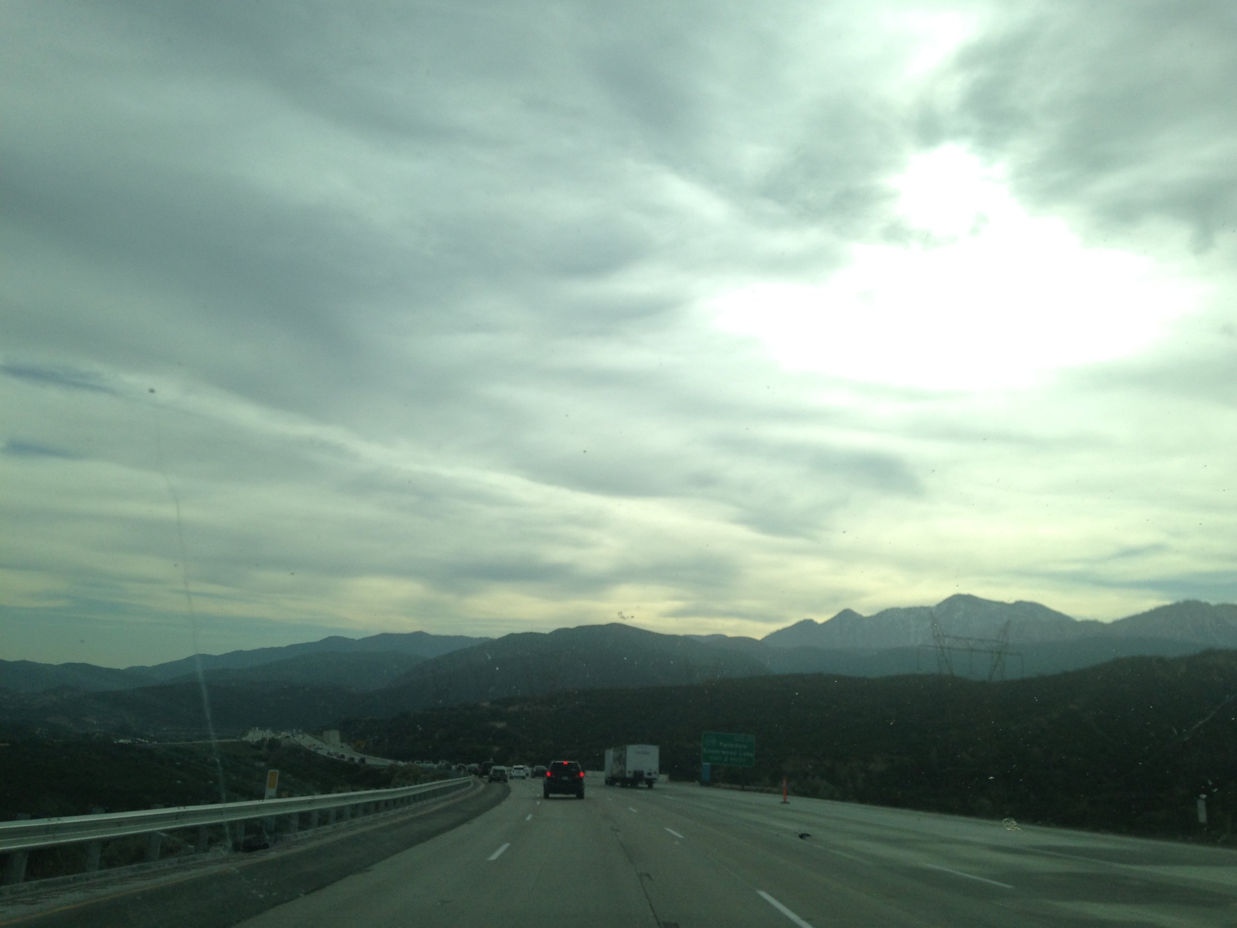 Our beautiful drive through the San Andres mountains.
