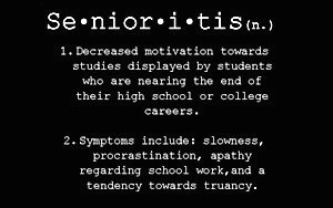 senioritis essay Senioritis essay about myself - help with math homework algebra april 12, 2018 uncategorized 0 comments a room of one's own: an essay i wrote when i was 12 so i.