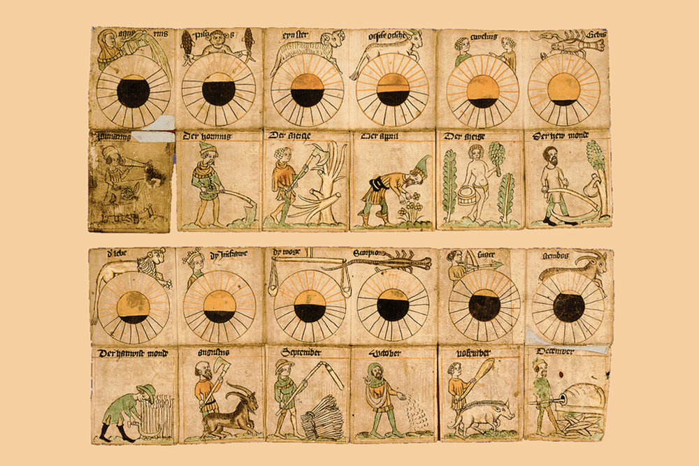 Labours of the Month - Each month of the medieval calendar had a