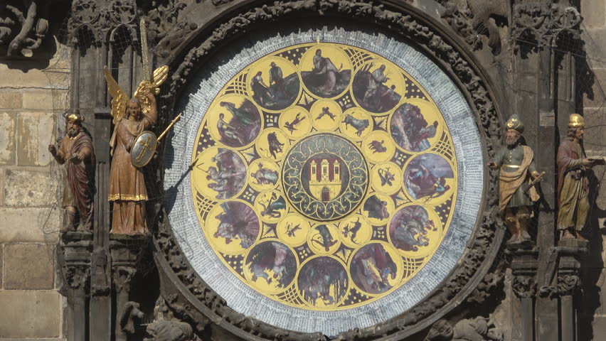 Astronomical clock:Prague, Czech Republic — including the monthly labours.