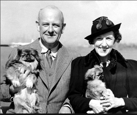 Pelham Grenville Wodehouse himself, and his lovely wife Ethel May
