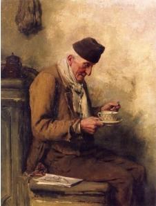 Old Man Drinking Tea, Albert Ankler