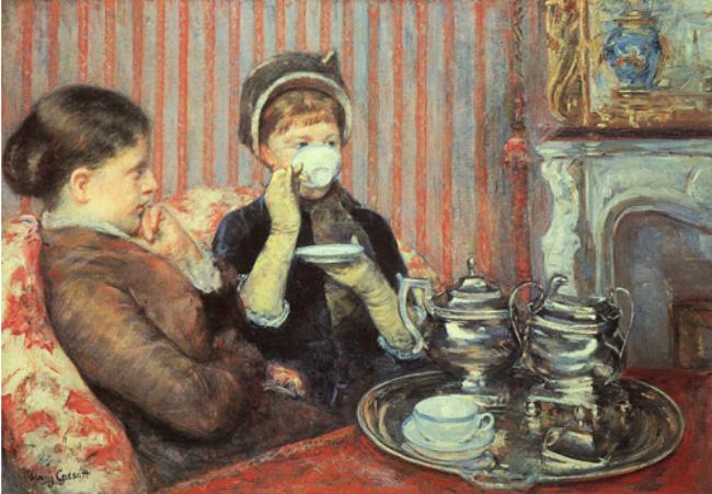 "Mary Cassatt, ""Five O'clock Tea"" (1880)"