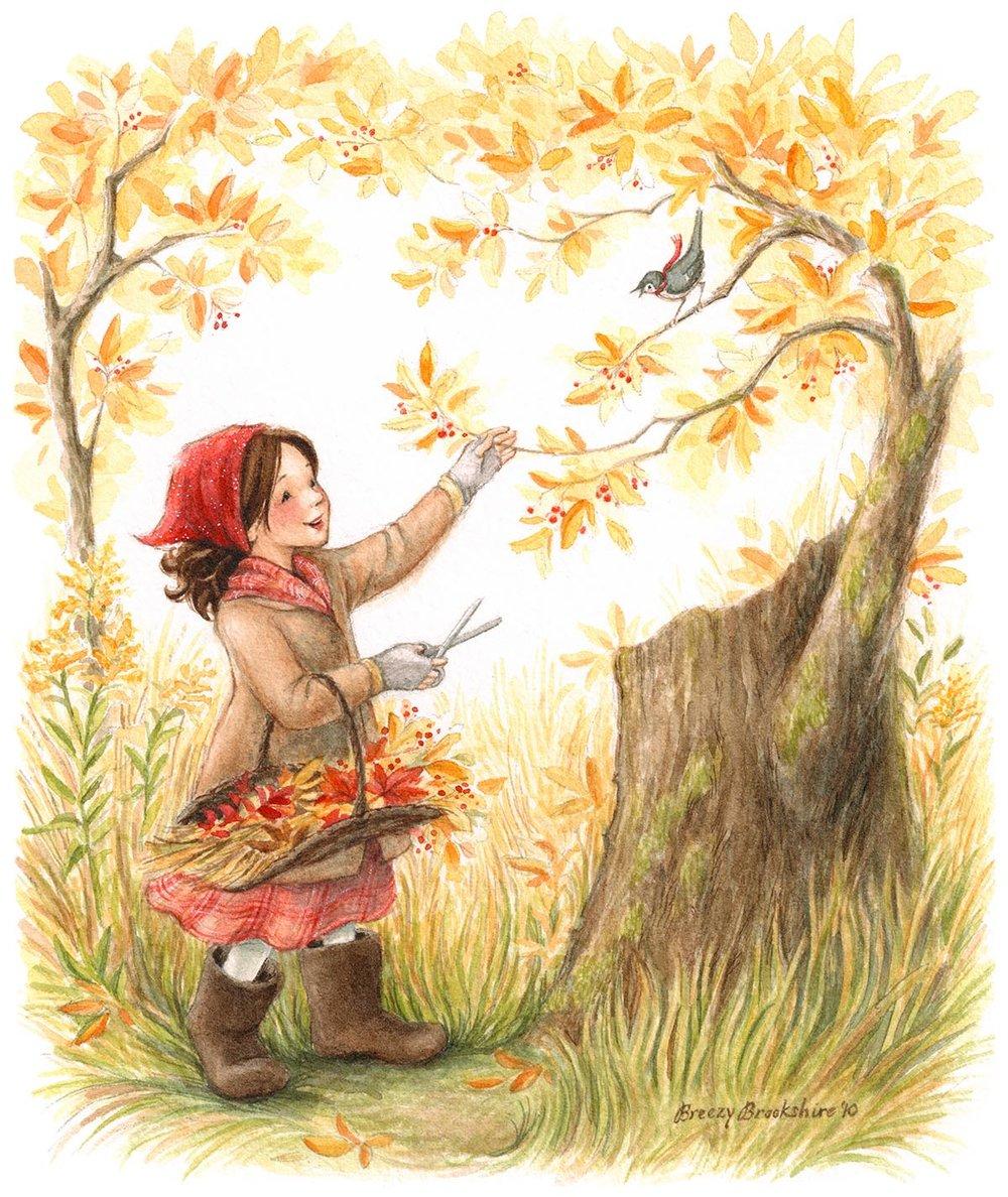 Gathering Autumn Joys by Breezy Brookshire
