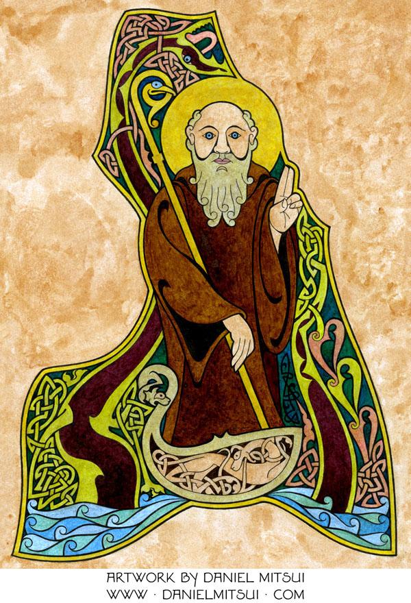 Saint Columba chillin' like a villain!