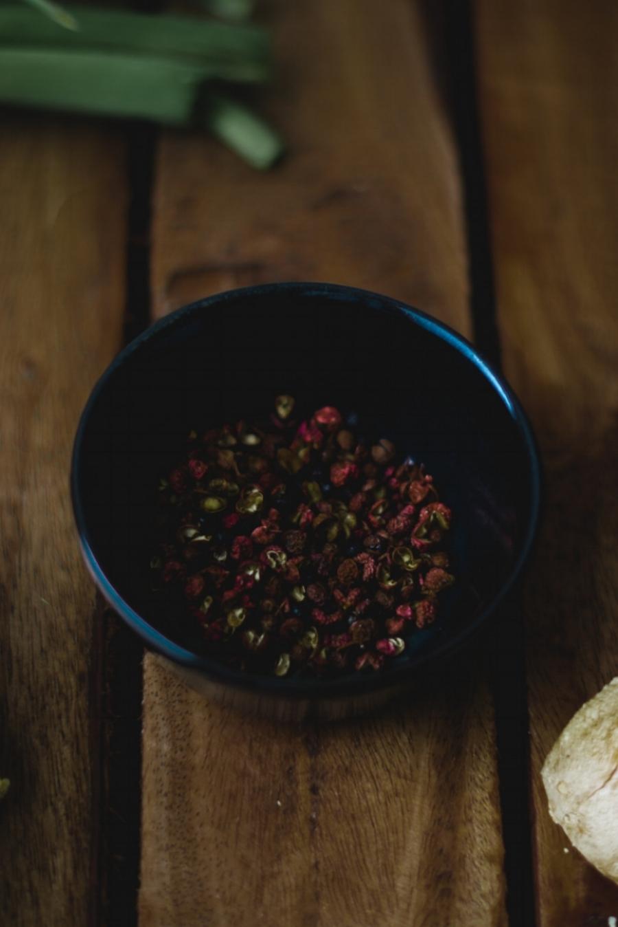 De prachtige sezchuan peperkorrels!