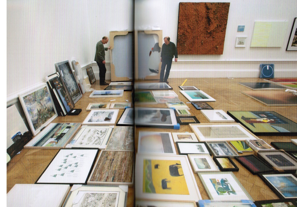 On Page 30 Of The Summer Exhibition Illustrated Catalogue (double Page  Photograph) U201cClimping Beachu201d Is Shown Lying On The Floor Of Gallery IV U2013  The Opposite ...