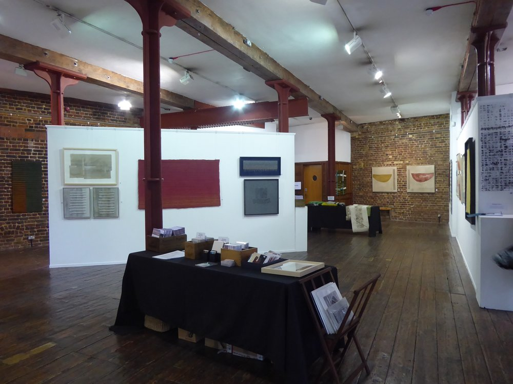 "End Wall:  ""Harbour Wall"" (left) and ""Harbour Wall Sunset"" (right) Menier Gallery"