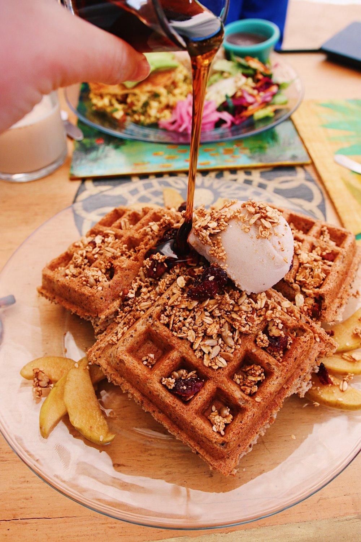 Vegan + gf waffles from Co.Con Amor