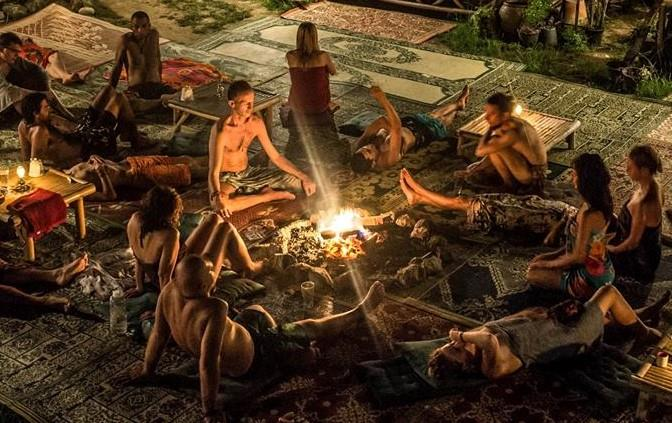 After dinner we will go to the Dome for an interactive music experience, bonfire and sweat lodge.