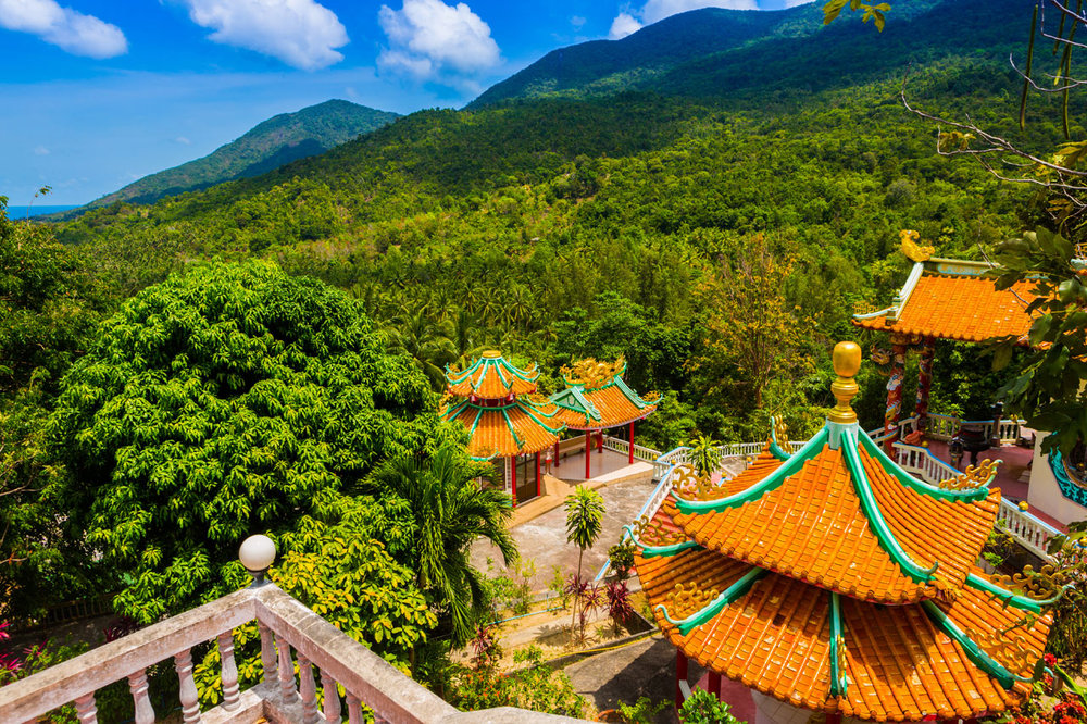 After lunch, we will go to the majestic Guanyin Temple that overlooks Chaloklum Bay. Known as the 'Goddess of Mercy Shrine', this fascinating Chinese temple is dedicated to the bodhisattva Guanyin, the Buddhist Goddess of Mercy.  Inside the Great Treasure Hall, we will learn the fascinating stories of 3 legendary bodhisattvas: Puxian who is depicted seated on an elephant, Wenshu who is seen sitting on a lion and the 1000-hand statue of Guanyin.