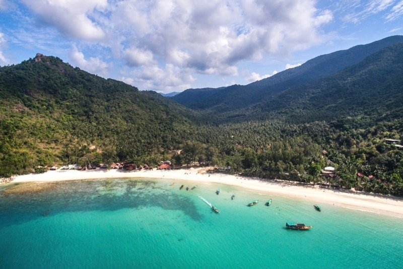 Bottle Beach is the closest in Thailand that we've found to peacefulness and remoteness of the movie The Beach. We will hike up to the viewpoint in the left-hand side of this photo for a breathtaking view of the sunset.