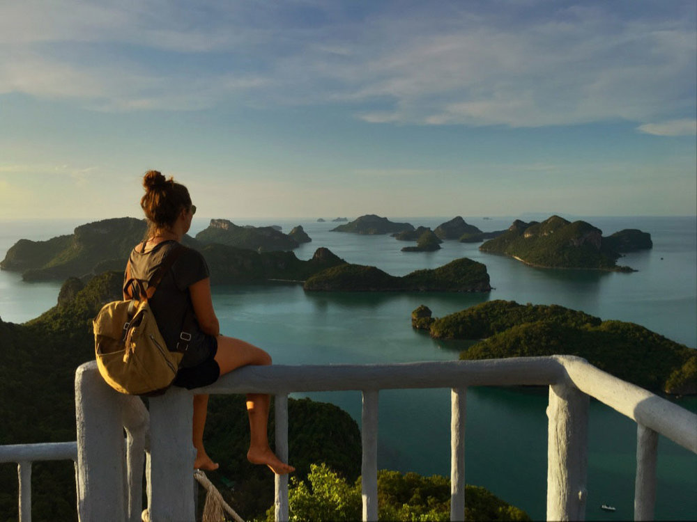The view from the top of Ang Thong National Park is one of the best in all of Thailand.