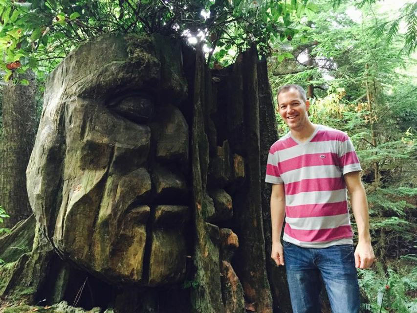 At the God Head in Stanley Park, a mysterious and beautiful place that inspired me to start leading adventures in the local rainforests.