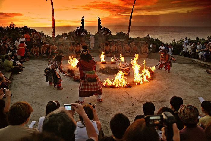 Experience a Kecak Ceremony with the backdrop of one of the best sunsets spots in the world.