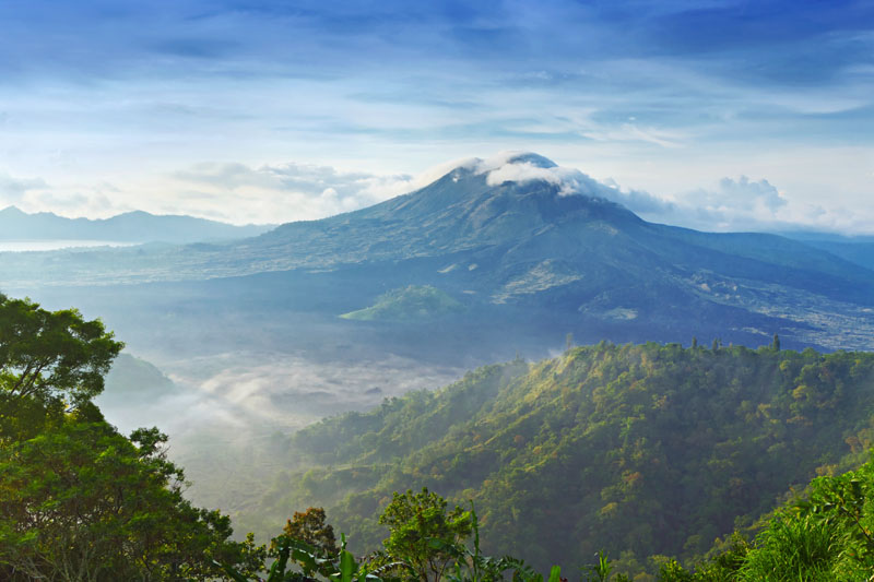 We will explore the rainforests around Mount Bratan in the centre of Bali.