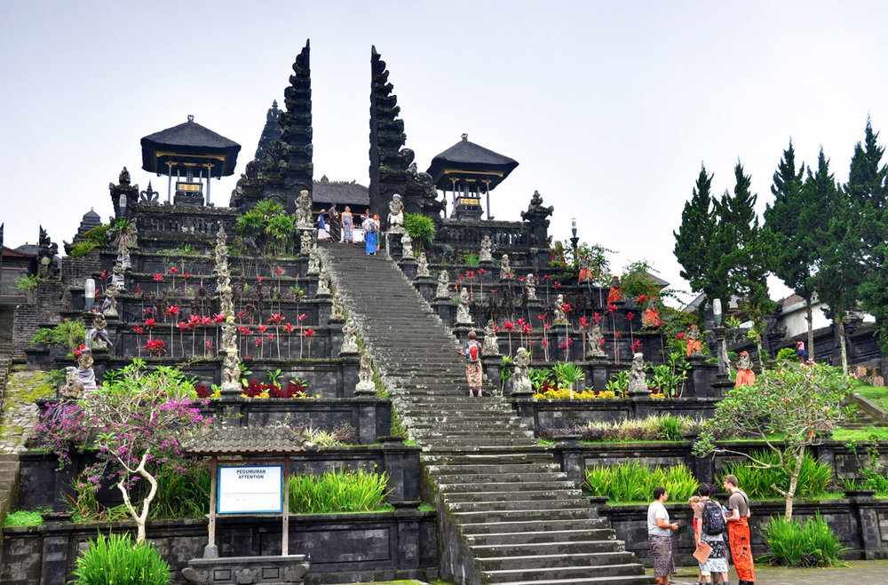 In the afternoon we will have a guided tour of the massive Pura Besakih Temple complex on the slopes of Mount Agung, the highest mountain in Bali. It is the most important, the largest and holiest temple of Hindu religion in Bali and it is perched on the side of an active volcano.