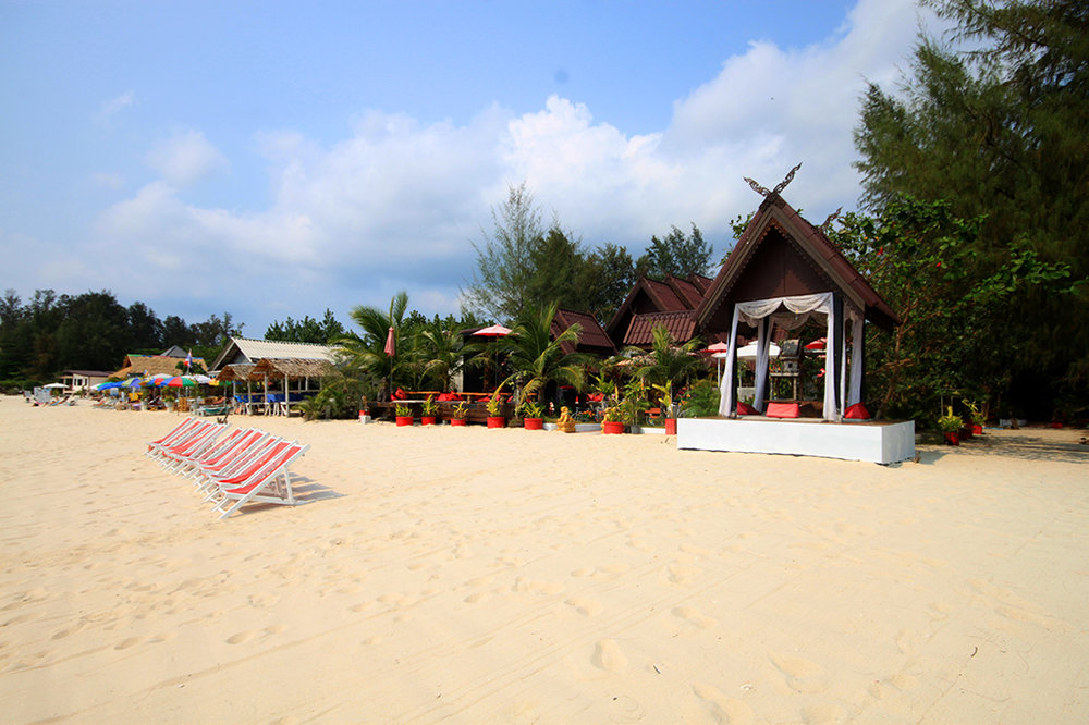 The beachfront at Phangan Cove near the village of Srithanu, which is the yoga capital of Thailand and home to large learning centres such as Samma Karuna and Agama Yoga.