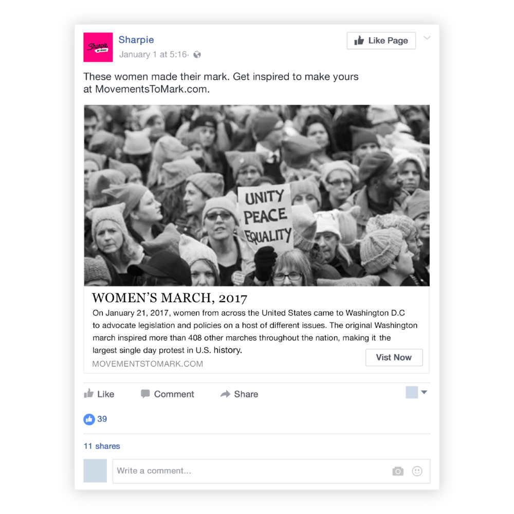 Social - When a new movement makes headlines it gets added to the microsite and posted on social.