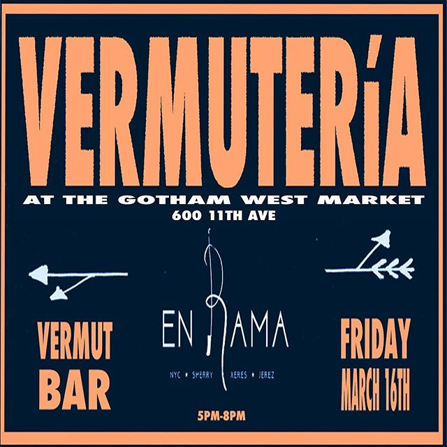 Come join us on Friday night! #vermut #popup #nyc