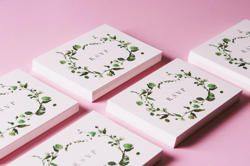 Floral Reply Cards