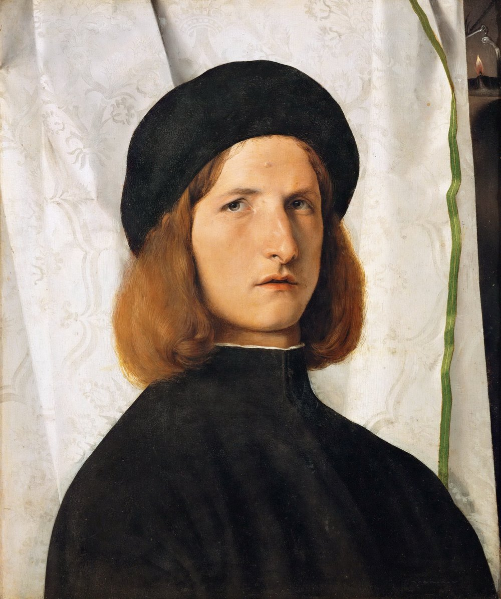 Lorenzo Lotto, ritratto di giovane con lucerna