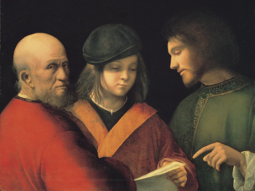 Giorgione, lezione di canto