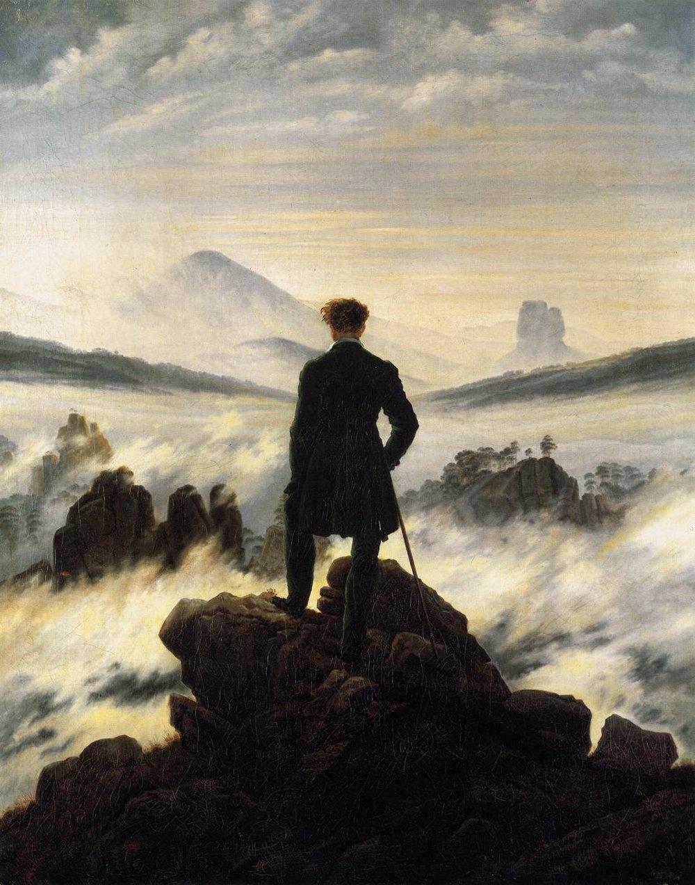 Caspar David Friedrich, Viandante sul mare di nebbia