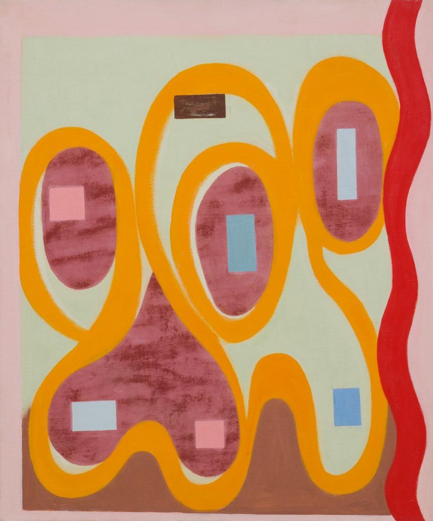 66 , 1966 Oil on canvas board 24 x 20 inches  Inquire