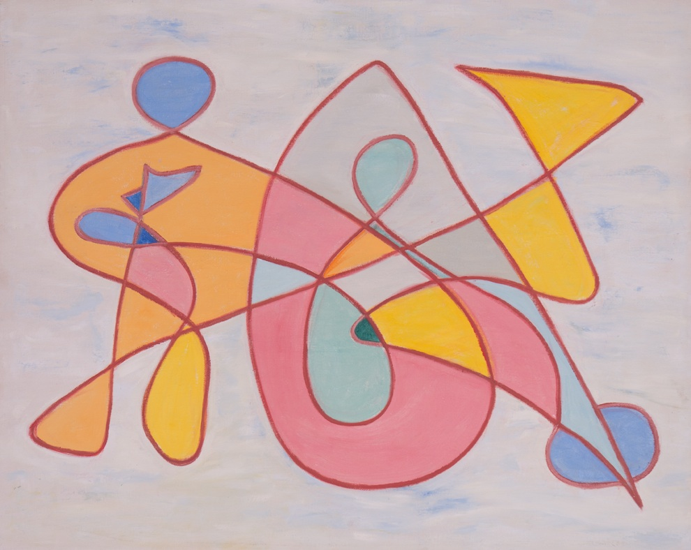 16-70,  1970 Oil on canvas board 24 x 30 inches  Inquire