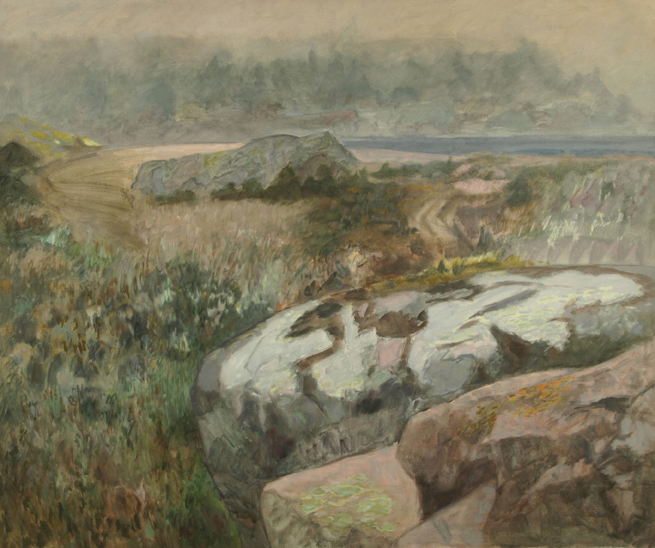 Joseph Fiore: # Paintings and Works on Paper # April 19 – May 24, 2013 <alt: Landscape with rocks and vegetation/>