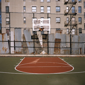 Charles Johnstone: # Thirtyfour Basketball Courts # May 25 – July 2, 2010 <alt: Photo of basketball court</>