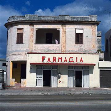 Charles Johnstone: # Recent Photographs from Havana# September 10 – Oct 11, 2008 <alt: Photo of pharmacy in Havana</>