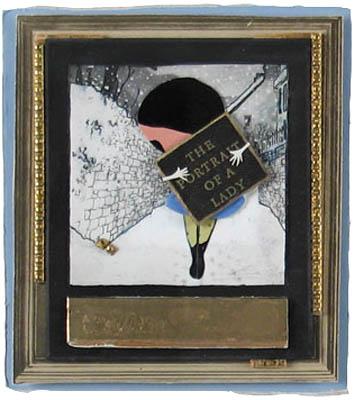 Elizabeth Schoettle: # Polaroid / Collages # June 12 – July 30, 2007 <alt: Photo collage in gold frame</>