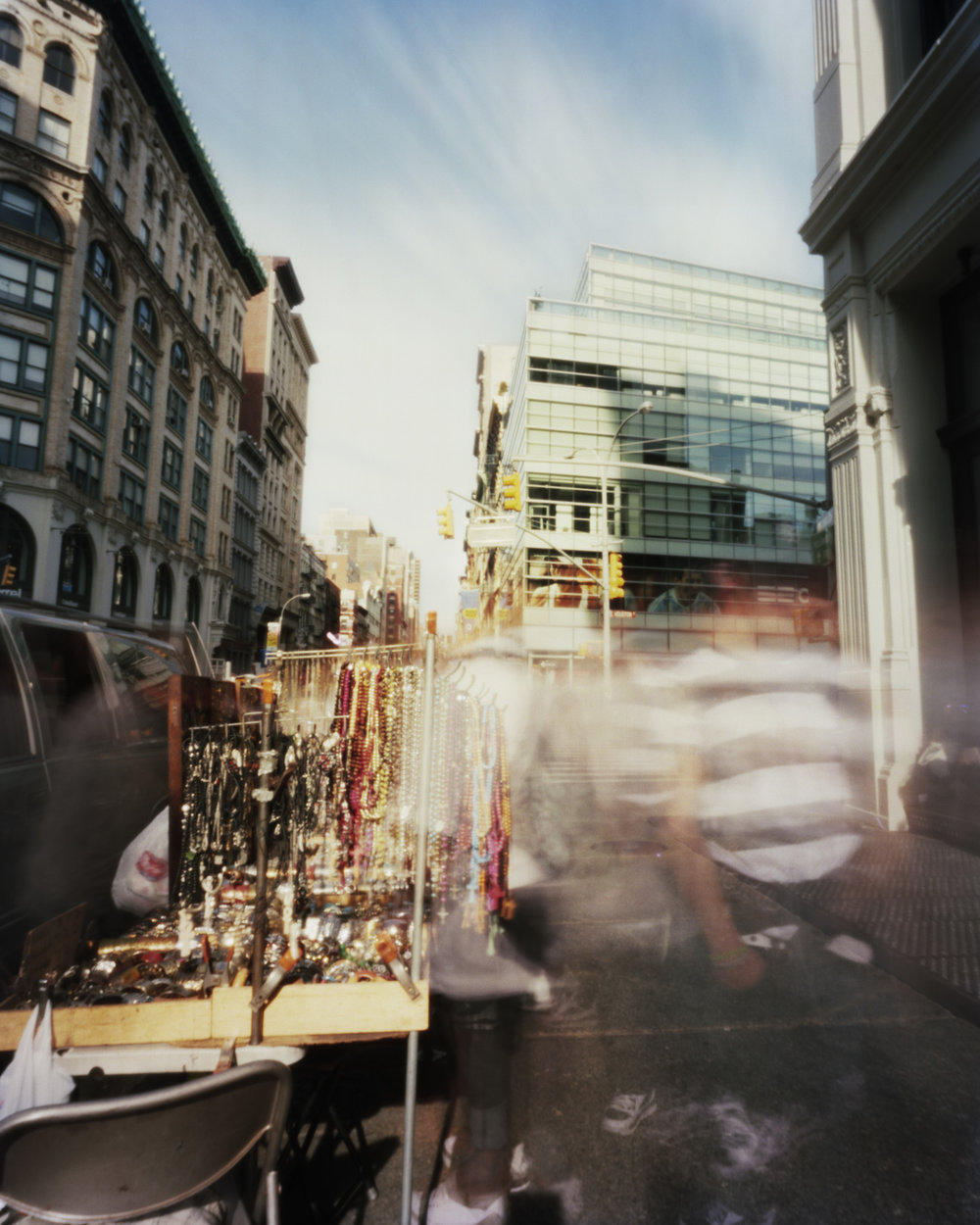 Photo of street in NYC with movement