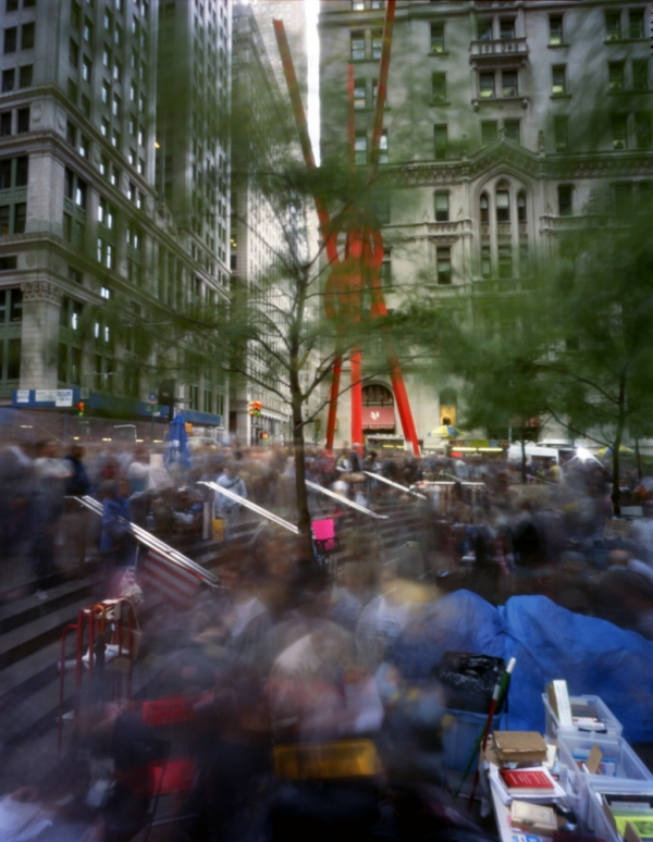Zuccotti Park during Occupy Wall Street