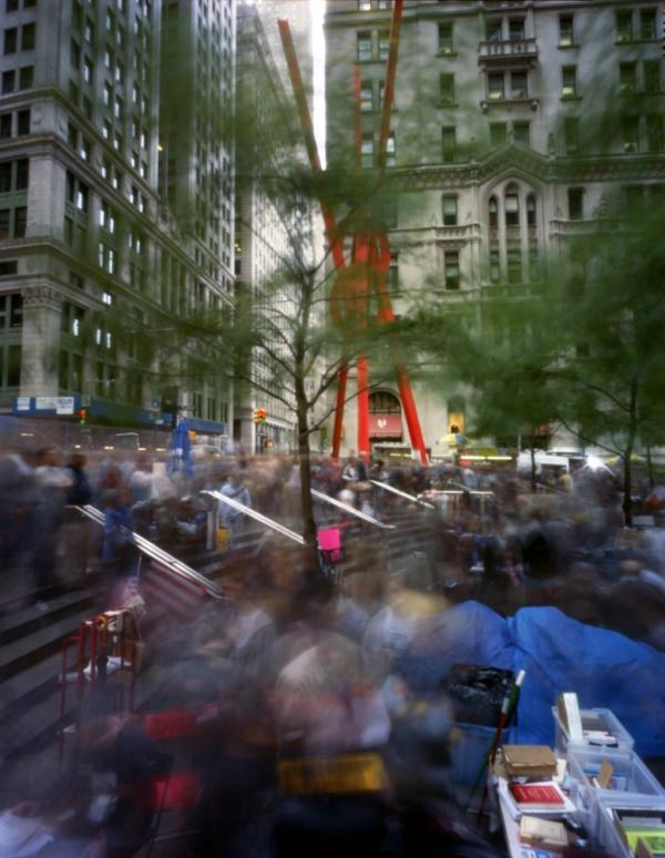 Zuccotti Park—Occupy Wall Street, No. 1  October 15, 2012  Inquire