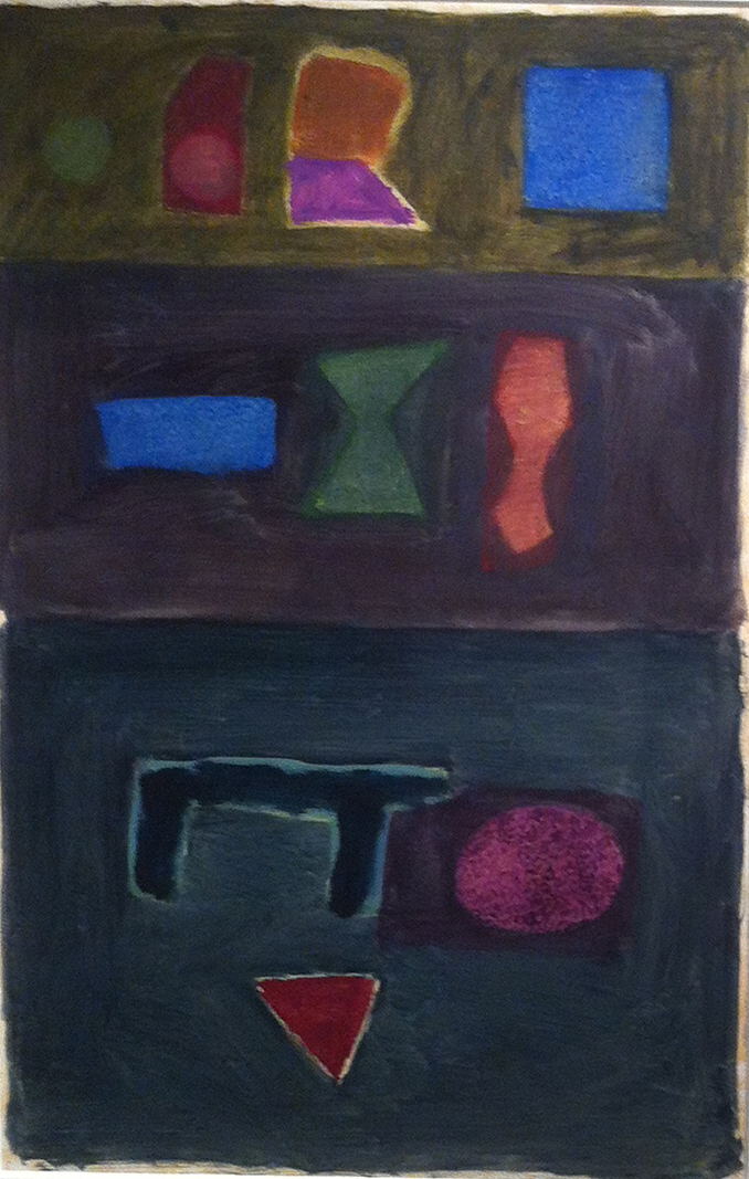 Untitled,  1990 Oil on paper 23 x 15 inches   Inquire