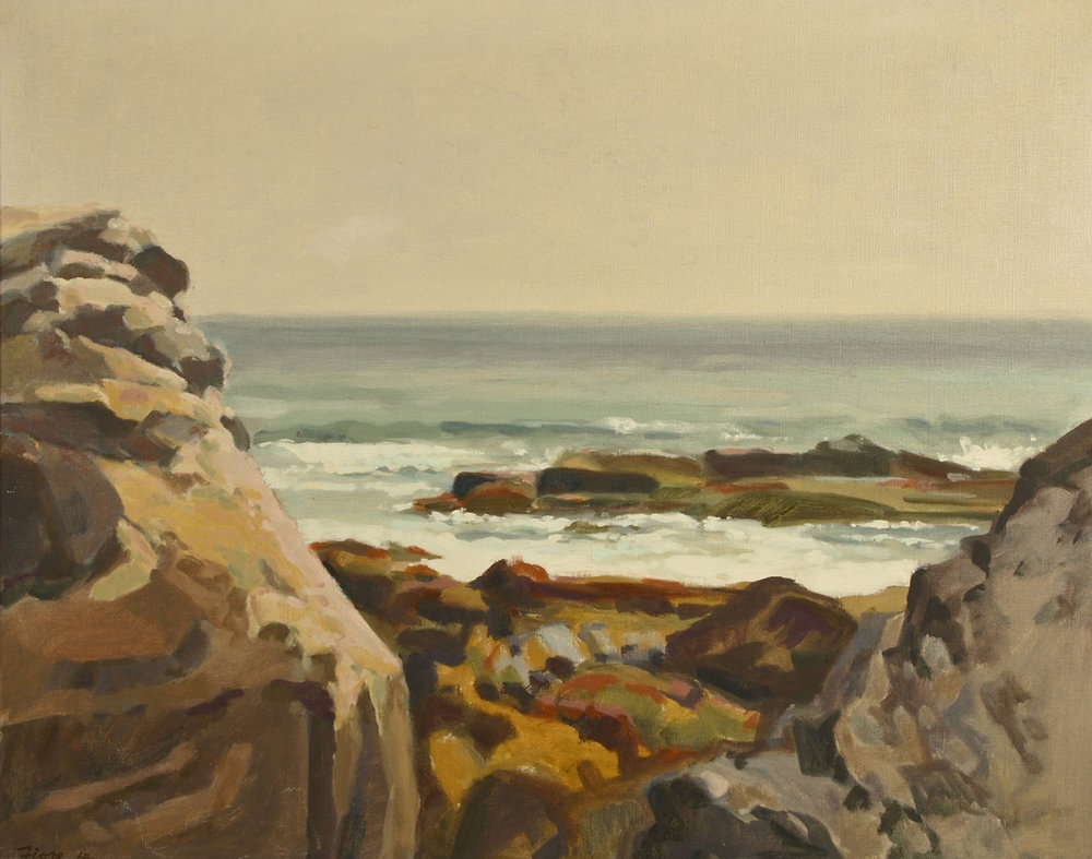 Rocks and Surf,  1964 Oil on canvas  24 x 30 inches  Inquire