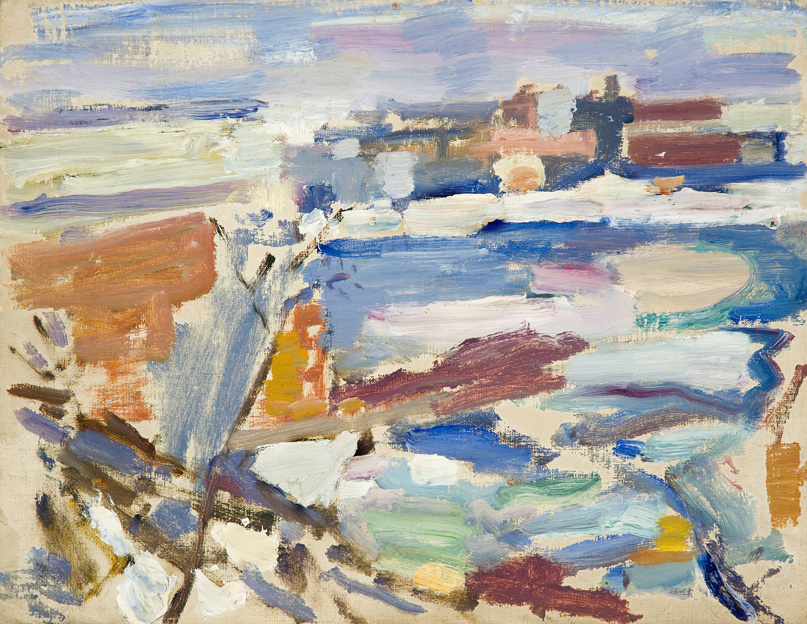 Weehawken Sequence  c. 1910 - 16 Oil on canvas board 9 1/2 x 12 1/2 inches