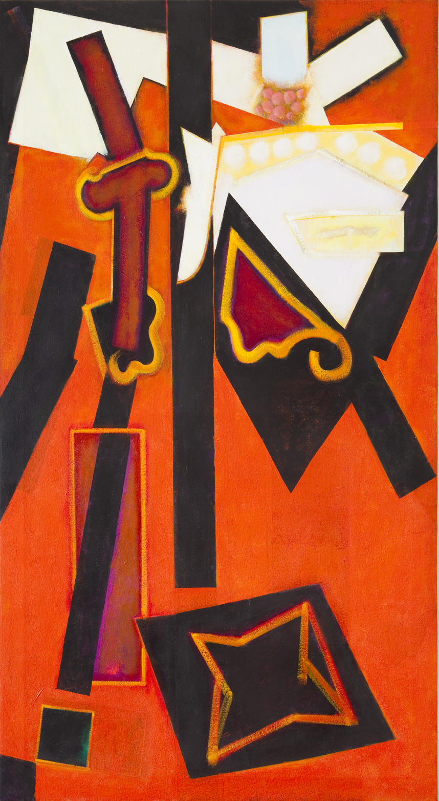The Amorous Saints,  2011 Acrylic on canvas  69 x 39 1/2 inches